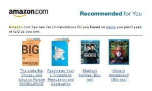 Amazon recommended products for you