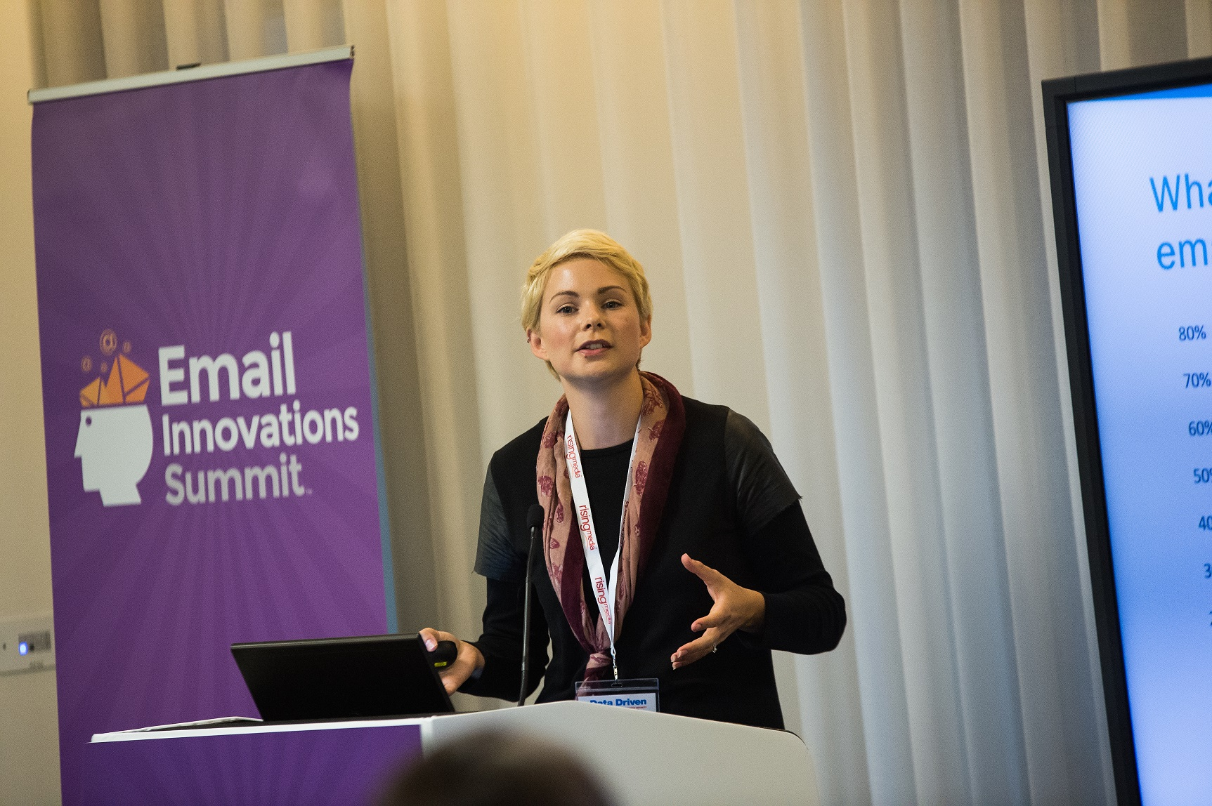 Jenna Tiffany speaking at Email Innovations Summit London 2017