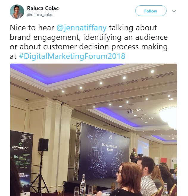 Digital Forum Romania 18 - Jenna Tiffany, Marketing Speaker at Let'sTalk Strategy