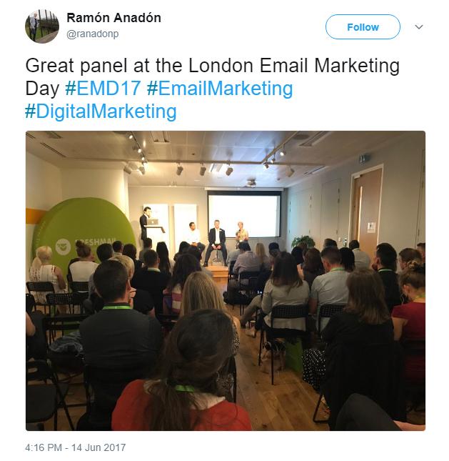 Jenna Tiffany speaking at the EMD17 Email Marketing Panel